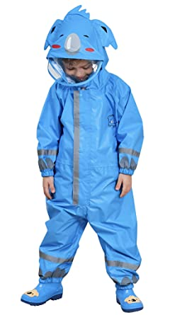 1b4c908c3 Amazon.com  DAWNTUNG Kids Waterproof Rain Suit Relective Cartoon ...