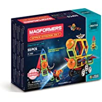 Magformers 3014 Space Episode Set (55 Piece) Magnetic Building Blocks, Educational Magnetic Tiles Kit , Magnetic…