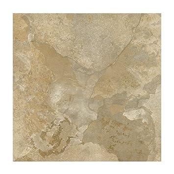 Amazoncom Faux Light Marble Vinyl Floor Tile Kitchen Dining - Faux limestone tile