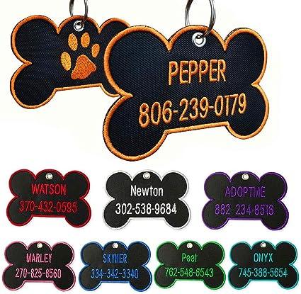 Pet Tag Pet etiquetas de identificación Brillo Paw Hueso Corazón Flor Grabado Gratis Pet Etiqueta Perro Gato