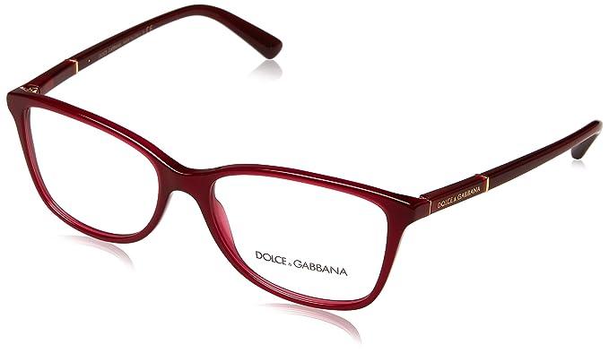 1db2f4206a5 Amazon.com  DOLCE   GABBANA Eyeglasses DG3219 2681 Opal Red  Shoes