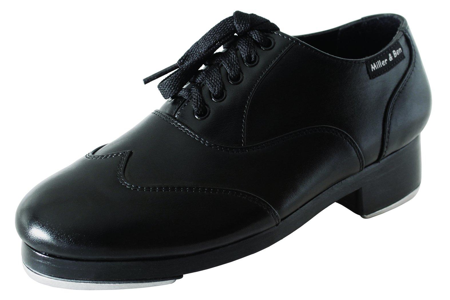 Miller & Ben Tap Shoes; Jazz-Tap Master; All Black - Wide Sizes (40 Wide) by Miller & Ben