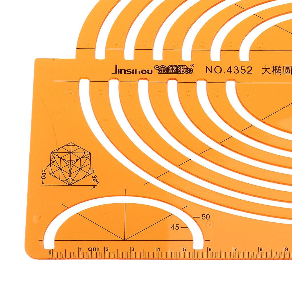 Isometrici Elisse Righello Fornitura Stencil per Progetti Educativi Architettura Giallo