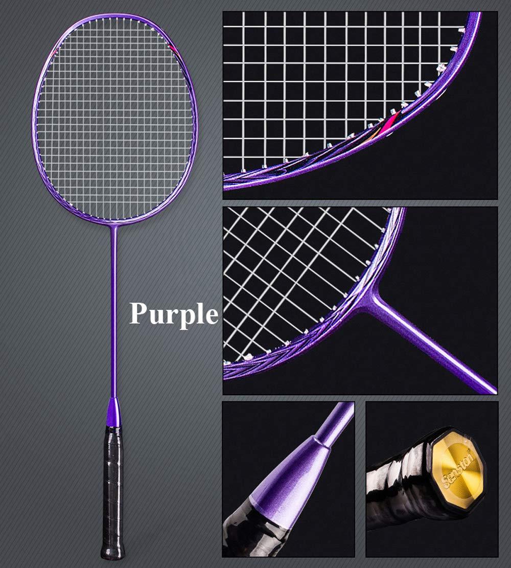 Senston N80 Graphite Single High-Grade Badminton Racquet, Professional Carbon Fiber Badminton Racket, Carrying Bag Included Purple Color by Senston (Image #2)