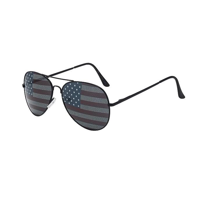 Amazon.com: ASVP Shop - Gafas de sol clásicas de la bandera ...