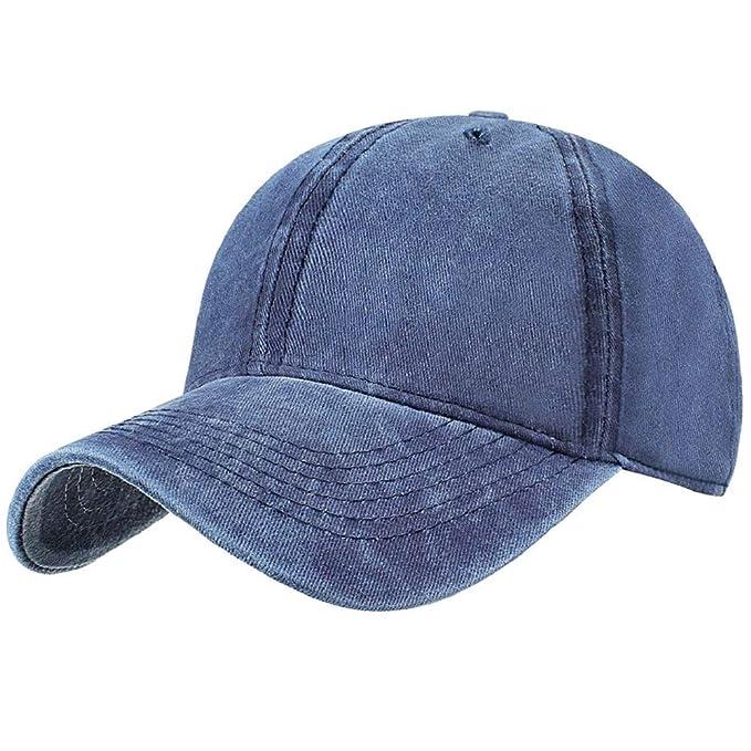 Tuopuda Gorra de Béisbol Classic Unisex Ajustable Washed Teñido Gorras de Béisbol de Algodón Sombrero de