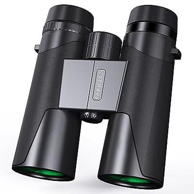 12x 42Jumelles Compact, HD Jumelles pour adulte Bird Watching Football Safari Sightseeing, portable, étanche Paire de jumelles pour l'escalade randonnée Chasse Sport, BAK4Prisme FMC le