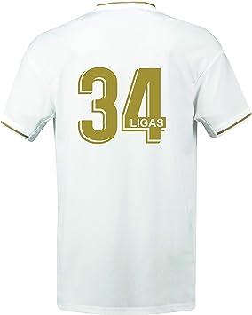 Real Madrid - 34 Ligas - Camiseta Oficial - Ganadora en 2020 de 34 Ligas: Amazon.es: Deportes y aire libre