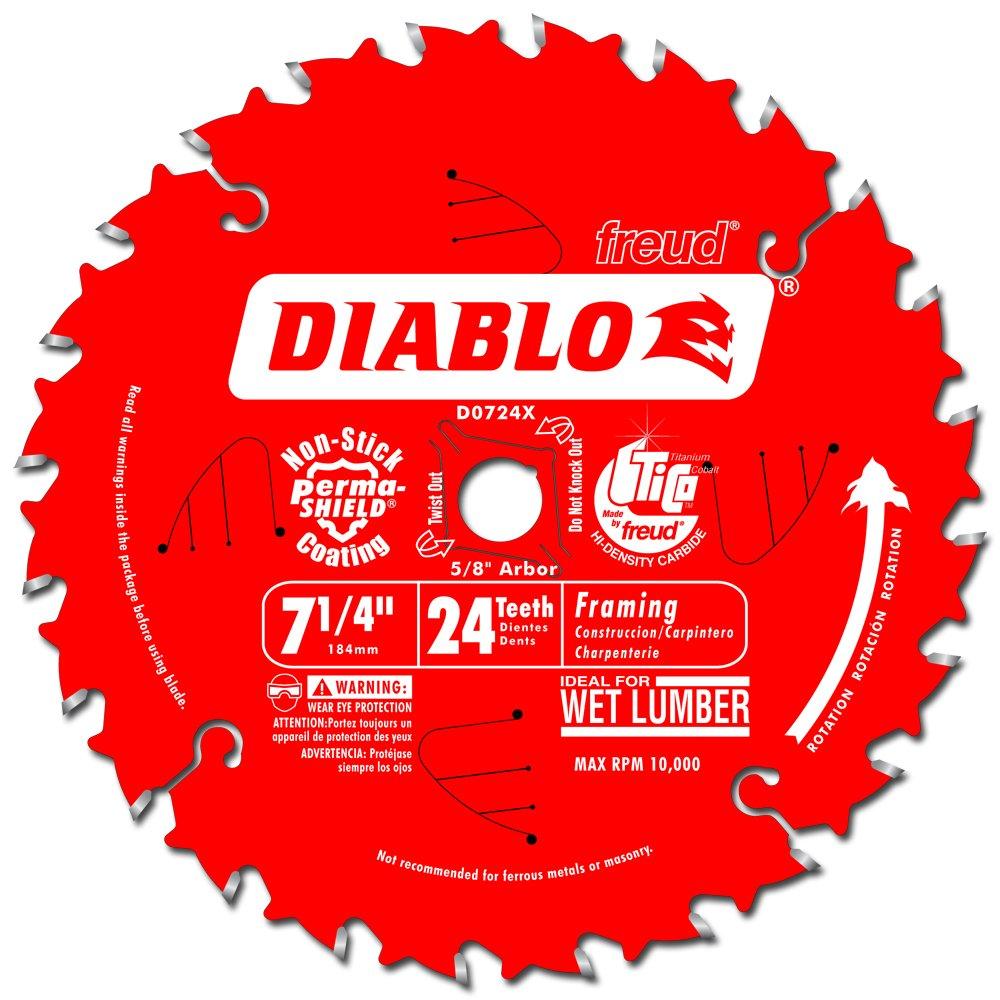 Disco Sierra Diablo Por Freud D0724x Ø184 24D E16 Madera