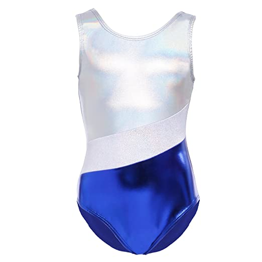 44bcd3a0653f Amazon.com  Kids Sparkling Sleeveless Ballet Dance Gymnastic ...