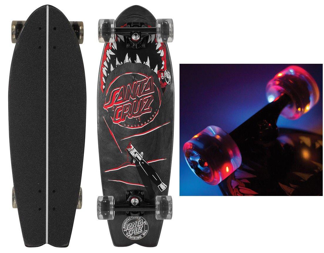 Longboard Skateboard Night Shark Cruiser With Led Light Upホイール B06XHTRHZN