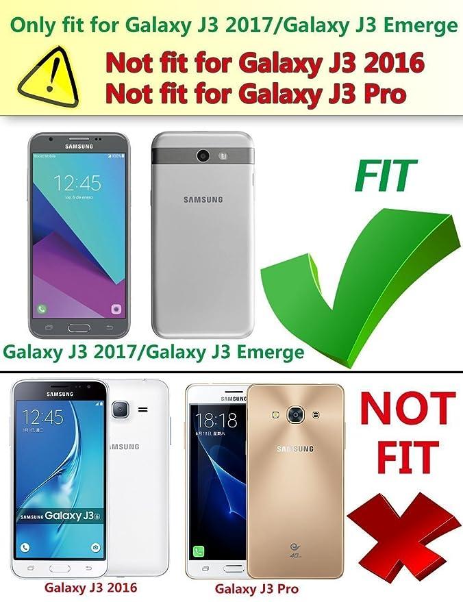 Samsung Galaxy J3 Mission / J3 Eclipse / J3 Emerge / J3 Prime / J3 Luna Pro  / Sol 2 / Amp Prime 2 / Express Prime 2 Case, MicroP Hybrid Dual Layer