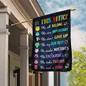 Garden Flag, Social Worker Flag, Social Worker We Are A Team, In This Office Flag, Social Services, Social Work Outdoor Yard Flag Farmhouse decor Yard Holiday Seasonal Outdoor Indoor Decor