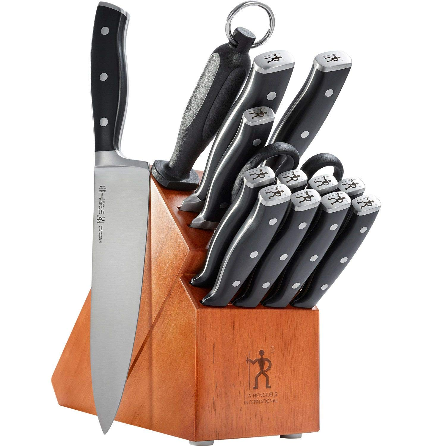 Zwilling J.A. Henckels 15-Piece Knife Set | High-Carbon German Stainless Steel Cutlery Set with Block and Sharpener by ZWILLING J.A. Henckels (Image #1)