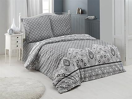 Buymax Bettwäsche 2 Teilig Renforce Baumwolle Reißverschluss