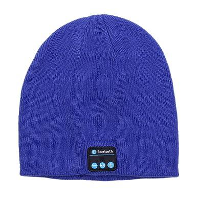 Cappello Bluetooth - Cuffie rimovibili senza fili con Smart Hat a maglia  calda con altoparlanti 4 85ca642a444a