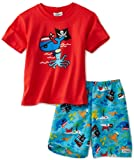 Flap Happy Little Boys' Screen Printed T-Shirt with Surf Trunk Set