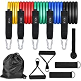 GREENTREEN Workout Weights Bands,Exercise Bands, Pull Rope Tension Band Resistance Bands Set for Weights Exercise, Fitness Wo