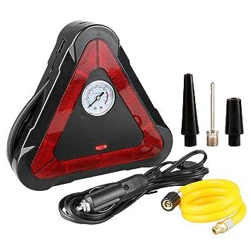 MRCARTOOL Bomba de Aire para neumáticos, luz LED, triángulo ...