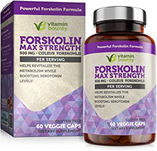 Forskolin - Non GMO, Gluten Free & Made in USA - Coleus Forskohlii Extract 60ct