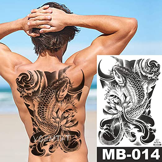 tzxdbh 48 * 35 cm Grandes Etiquetas engomadas del Tatuaje Death ...