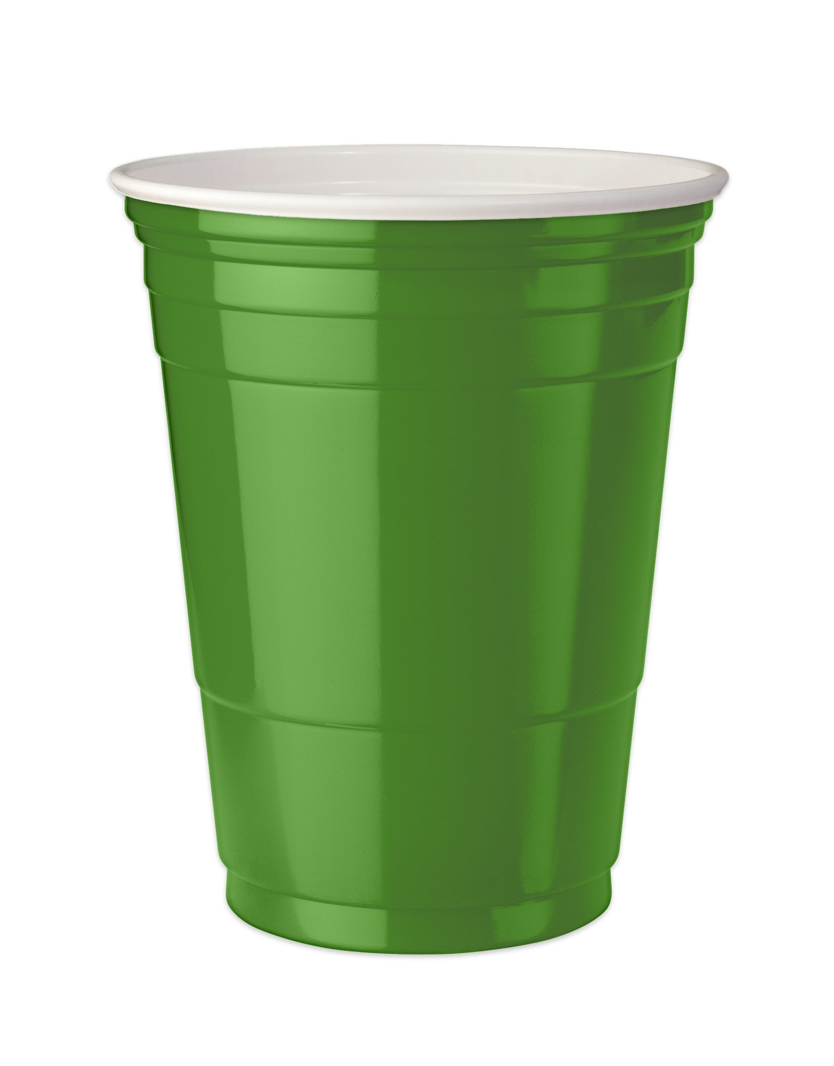 Mr. Ice Bucket (403-4) Double Walled Insulated Party Cups, 16-Ounce, Green, Pack of 4