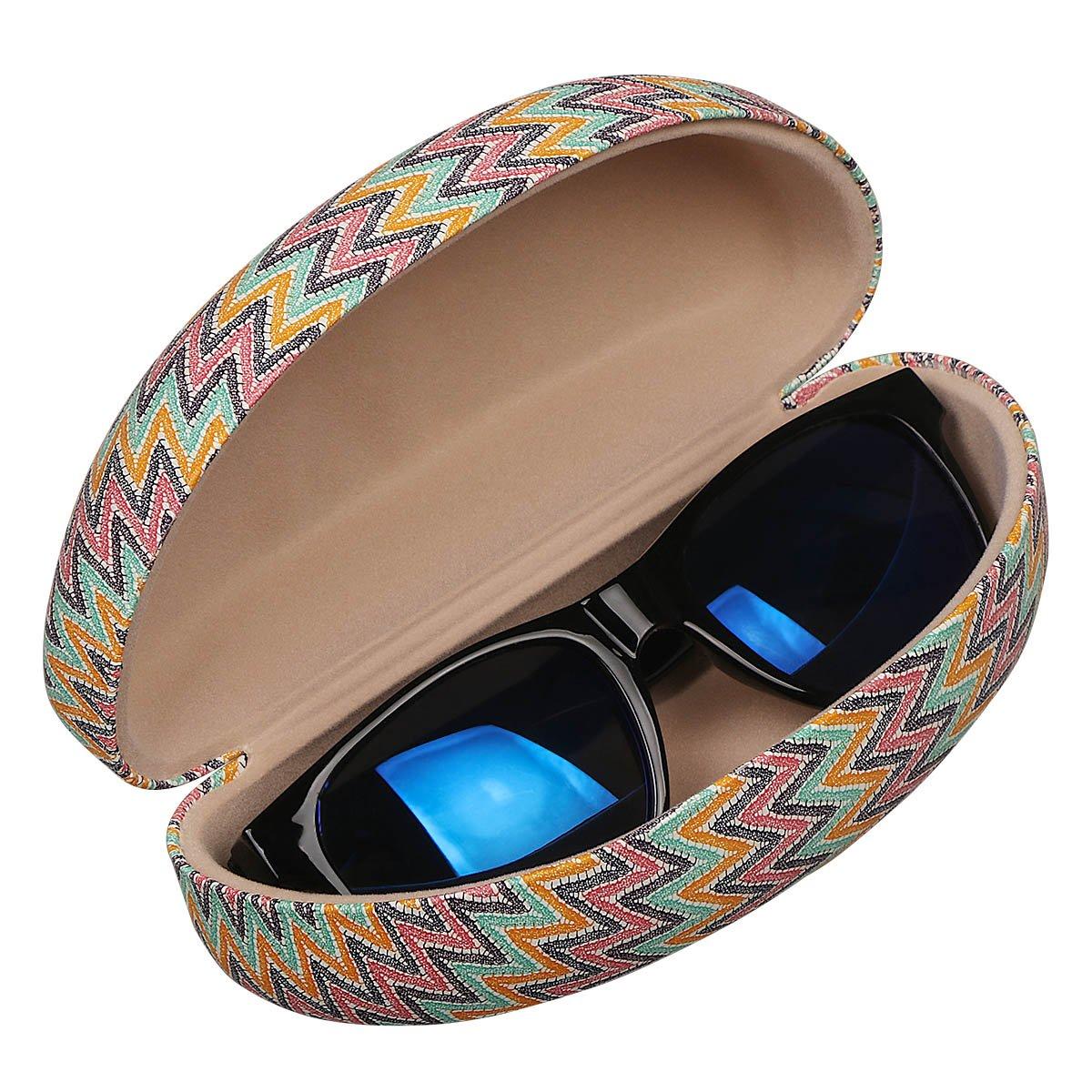 Black Peony xhorizon FL1 Hard Shell Sunglasses Case,Classic Extra Large Case for Oversized Sunglasses and Eyeglasses