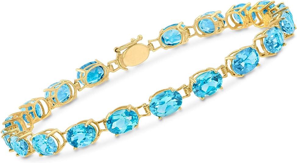 Details about  /Sterling Silver Heart Swiss Blue Topaz Bracelet 2.0 Carat