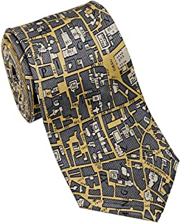 product image for Josh Bach Men's CIVITAS Map of Rome Silk Necktie, Made in USA