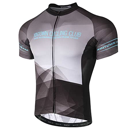 794d79549 Amazon.com   Rotibox Men s Pro Team Cycling Jersey Breathable UV Protection Short  Sleeve Outdoor Sports Dry Fast Shirt   Sports   Outdoors