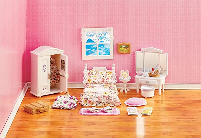 Calico Critters Deluxe Floral Bedroom Set Lavender Toys Games Amazon Com