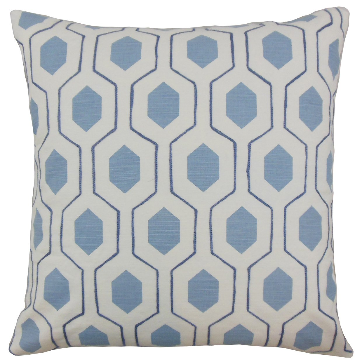 Kess InHouse Catherine Holcombe I Love The Sea 2 Blue Teal Throw Pillow 18 by 18