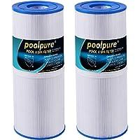 POOLPURE 2X Filtros de SPA para bañera de hidromasaje Unicel c4950 / C-4950 Reemplazo del Cartucho de SPA de 50 'para…