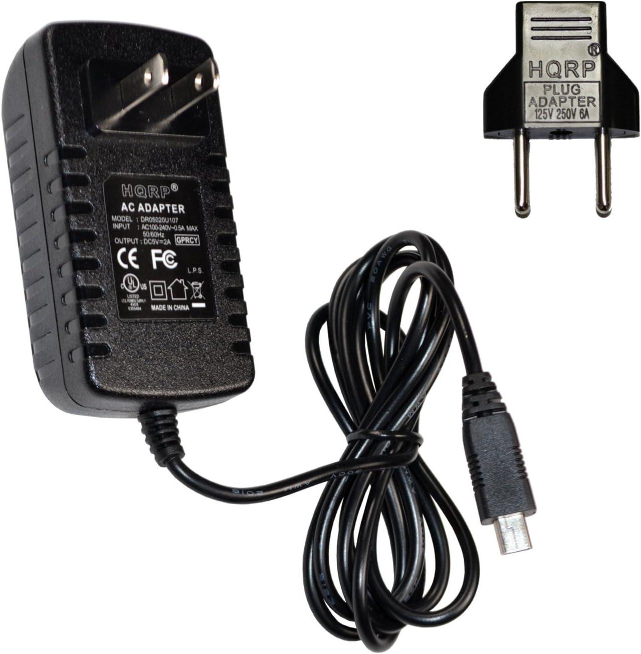 HQRP 5V Adaptador de CA/Cargador para Garmin Nuvi 2200 2300 2445LMT 2475LT 2545LMT 2595LMT GPS