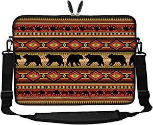 Meffort Inc 15 15.6 inch Neoprene Laptop Sleeve Bag Carrying Case with Hidden Handle and Adjustable Shoulder Strap - Bear