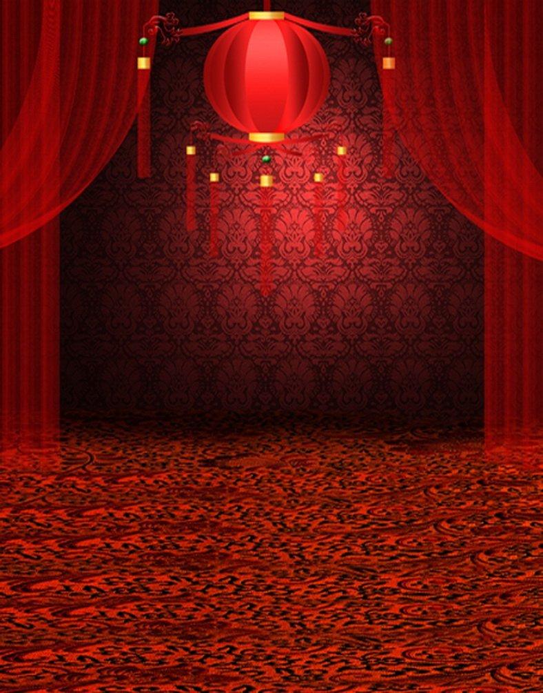 レッドステージ写真Backdrops写真小道具Studio背景5 x 7ft   B01H3VYU9K
