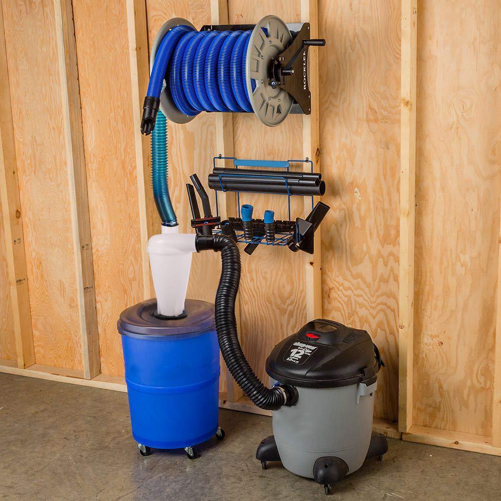 Sailnovo Colector de polvo Extractor de polvo Separador Cicl/ónico Filtro Cicl/ón Recolecci/ón de Polvo para Aspirador Negro con accesorios