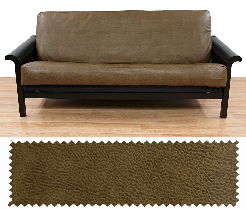 Faux Leather Rawhide Full Futon Cover 223