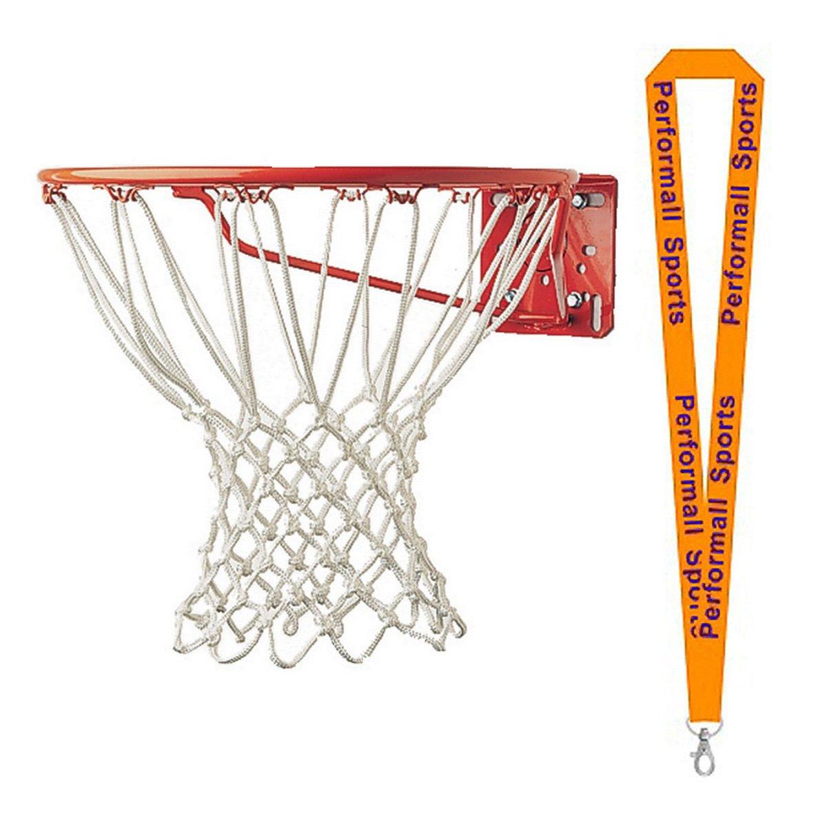 Championスポーツバスケットボールフープnet-non Whipホワイト( Set of 2 ) with 1 performall Lanyard 417 – 2p B01FSZ7FTK