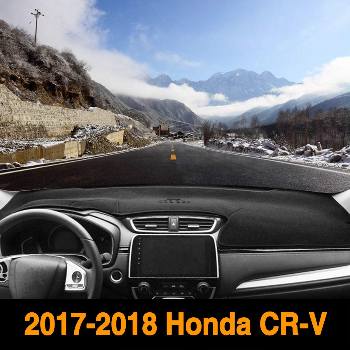 Yeeoy Custom Dashboard Black Center Non-Slip Cover Sunshield Cover Pad Fits 2017 2018 Honda CRV