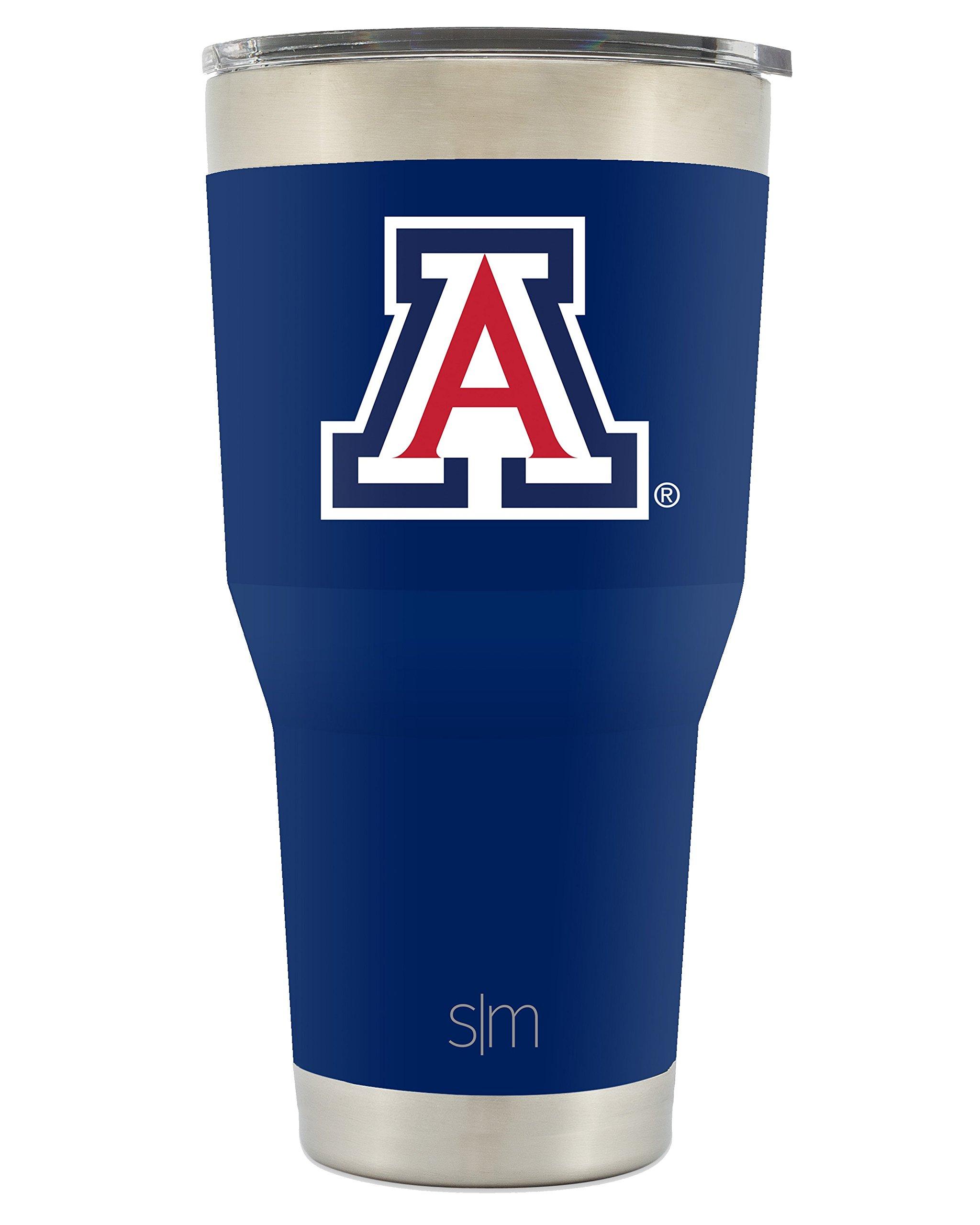 Simple Modern University of Arizona 30oz Cruiser Tumbler - Vacuum Insulated Stainless Steel Travel Mug - UA Wildcats Bear Down Tailgating Cup College Flask