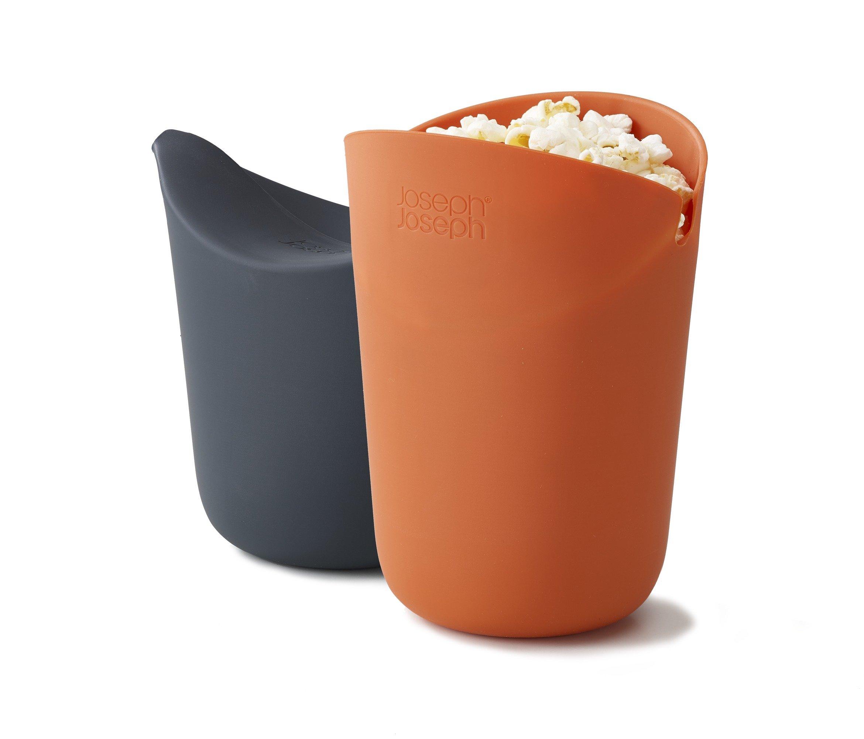 Joseph Joseph 45018 M-Cuisine Microwave Popcorn Popper Maker Single Serve Portion Silicone Food Safe, 2-piece, Multicolored by Joseph Joseph