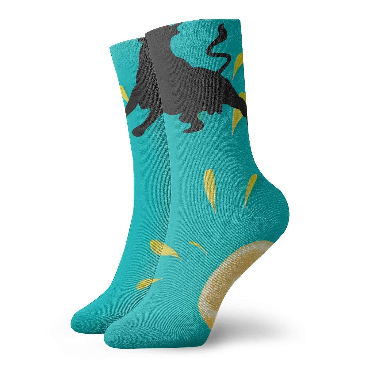 Bull Fighting Fashion Dress Socks Short Socks Leisure Travel 11.8 Inch