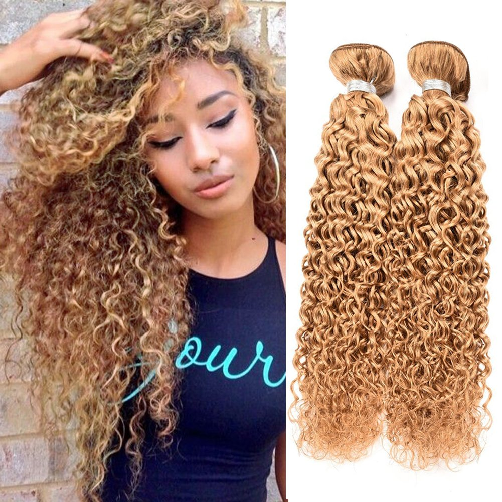 Amazon Peruvian Deep Wave Curly Hair 8a Blonde Curly Human