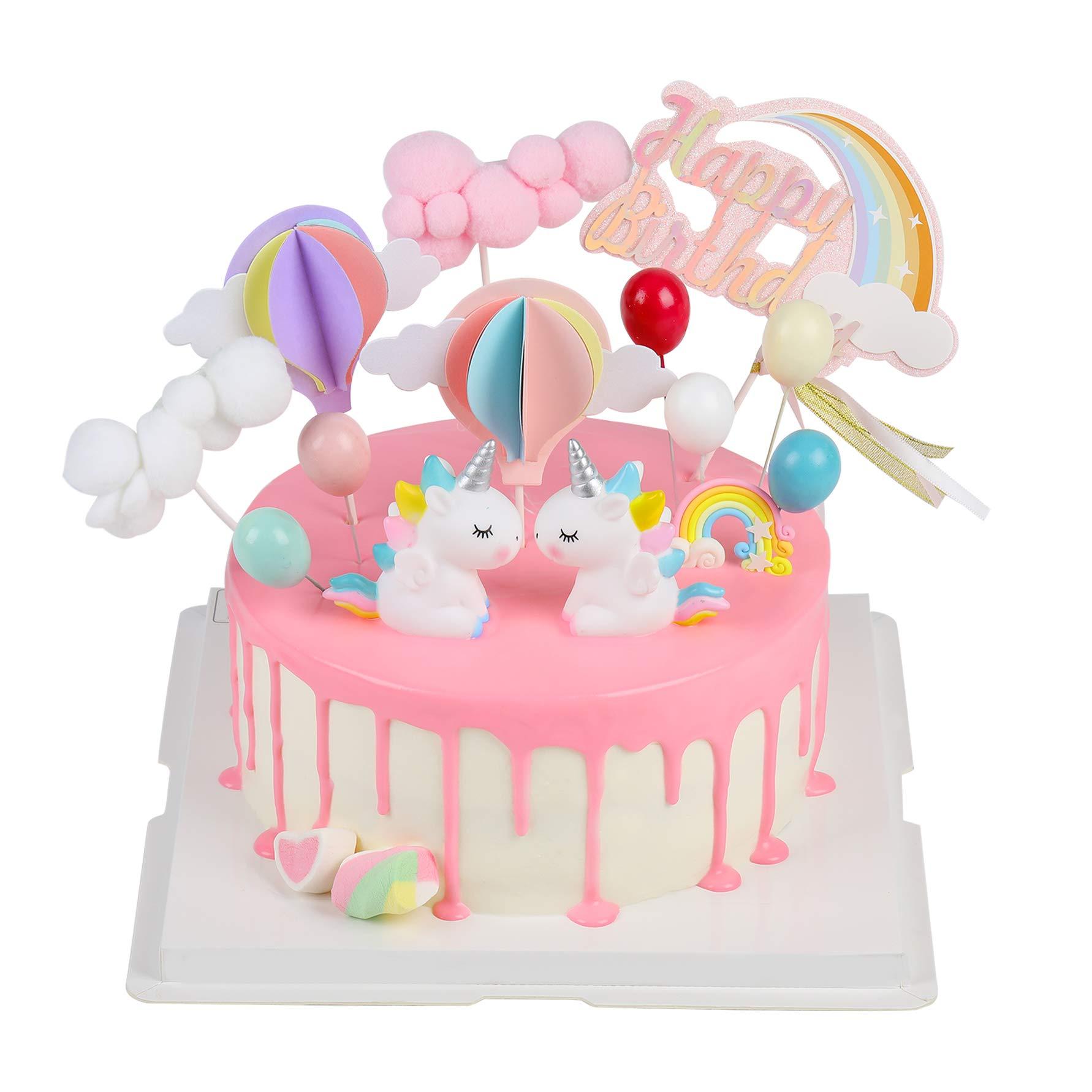 Joyoldelf Cake Toppers Auto Kuchendekoration Spielzeug Fahrzeuge Einhorn Geburtstag Junge Geburtstag Dekoration Junge Geburtstagsgeschenk f/ür Geburtstag//Hochzeit//Feiertag//andere Party