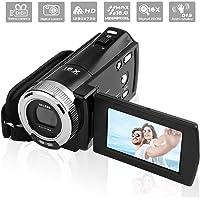 """PowerLead PLD003 Videocámaras DV C8 16MP de Alta Definición Digital Video Camcorder Dv DVR 2.7"""" TFT LCD 16x Zoom HD Video Recorder Cámara de 1280 x 720p"""