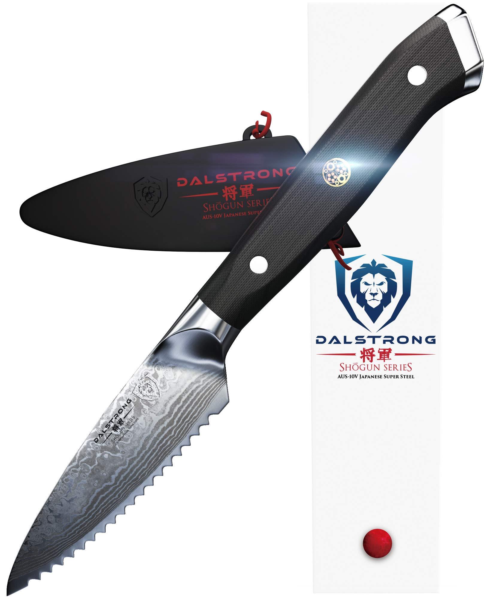 DALSTRONG Serrated Paring Knife - Shogun Series - VG10-3.5'' - Sheath