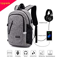 ERAY Business Laptop Backpack Anti-Theft College Backpack with Reflective Strip 15.6 Inch Computer Backpacks for Women Men, Casual Hiking Travel Daypack (C-Gray)