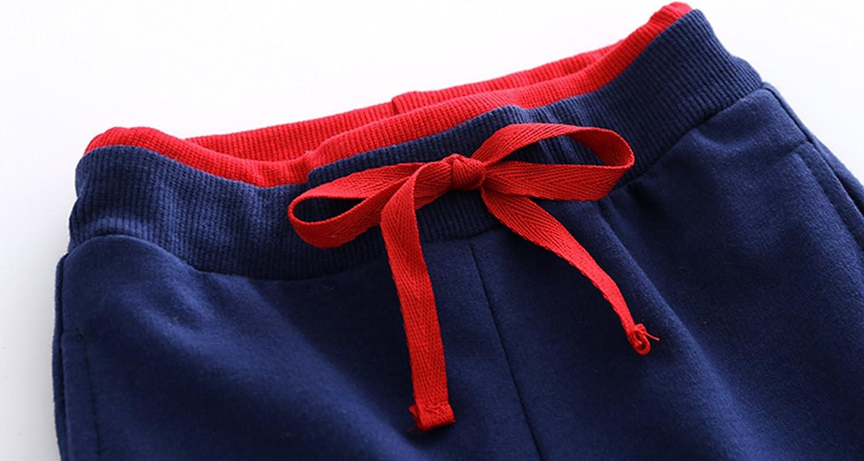HUAER/& Baby Boys Summer Knit Shorts 2 Pack