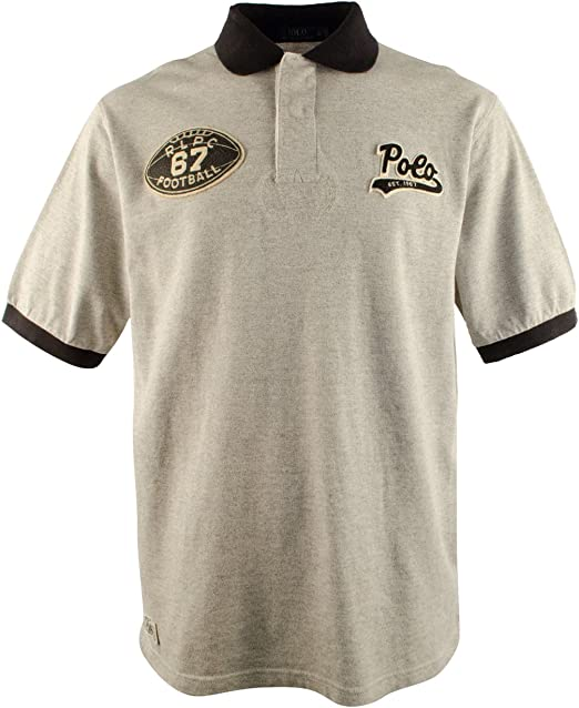 Polo Ralph Lauren Mens Big and Tall Short Sleeve Sport Patch Polo ...